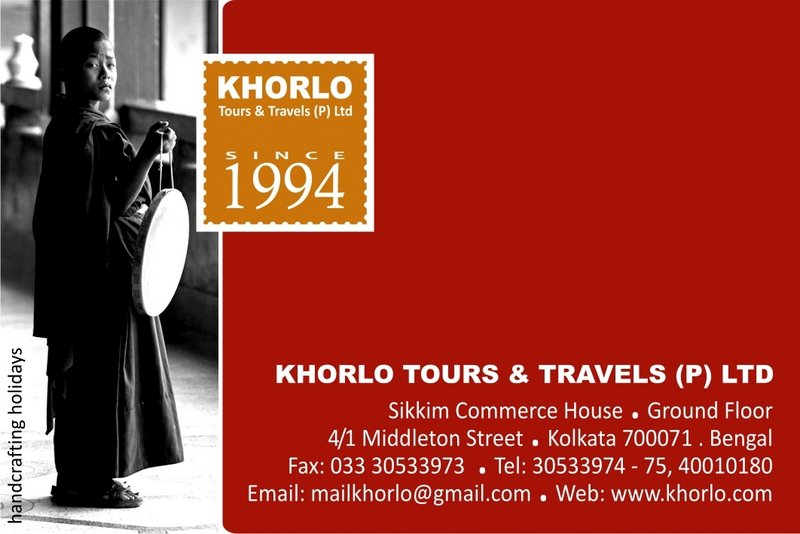 Khorlo Tours & Travels Visiting Card