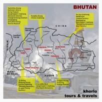 Map of Bhutan