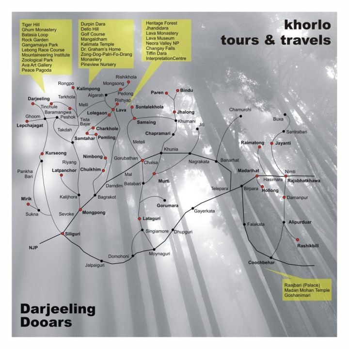 Map of Darjeeling
